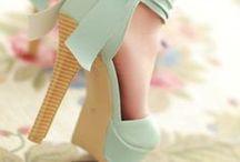 High heels / Bright coloured high heels! High, High heels.