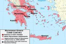 HIS / Griekse Mycene 1450 v.C / HELLADISCHE / MYCEENSE CULTUUR.Vanaf 1450 v.C was Mycene in het gebied van de Egeïsche Zee machtiger dan Kreta. De Achaeers de helden van de Ilias en de Odyssee spraken Grieks bouwden onneembare vestingsteden en kenden een bewogen en legendarische geschiedenis.