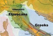 Tijdperk 3 / Etrusken 7de - 1ste V.C. / Sinds 800 v.c. zijn er sporen Etruskische cultuur in Italie. In 510  v.C. wordt  de Etruskische koning van Rome van de troon gestoten Rome wordt Republiek