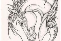 Arts - Chevaux / Comment dessiner et peindre des chevaux.  Ceci s'applique aussi à comment dessiner des cheveux (transférer ses connaissances à autres choses)