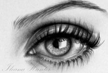 Arts - Yeux / Comment dessiner les yeux. Un bon moment pour discuter les sentiments et les expressions.