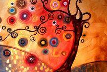 Arts - Arbres / Exemples de comment peindre et dessiner des arbres.