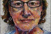 Arts - Pointillisme / Voici des exemples de pointillisme.