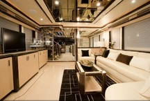 Ocean Alexander 85Euro 2010 / The perfect balance of innovative space planning and exquisite custom yacht interior design by Destry Darr Designs. Exotic woods and luxurious fabrics and furnishings accented with unique accessories all come together to create a rich, sophisticated look combined with a casual, relaxed feeling.