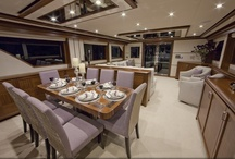 "Ocean Alexander 85 ""Eleven Eleven"" / Showcasing a custom yacht interior design by Destry Darr Designs that is brilliantly married to the exterior styling. Attention to every detail throughout all stages of design, construction and engineering results in an interior and exterior styling which offers unparalleled comfort and luxury. To see 360 degree virtual tours go to: 