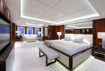 Yacht Interiors / Custom yacht interiors designed by others that inspire me.