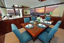 Ocean Alexander 90 / The Ocean Alexander 90 is as much about details as it is about creating a total look. The custom yacht interior design by Destry Darr Designs exemplifies an eye for creating spaces that are livable, sophisticated and above all, timeless. The comfort, style, elegance and craftsmanship truly make the Ocean Alexander 90 one of life's finest pleasures.