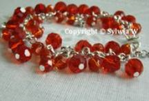 bracelet (crystal beads) from  flov design / handmade by Sylwia W.