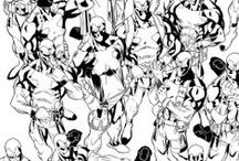 Marvel Comics Inks / Comic Book Inking by Walden