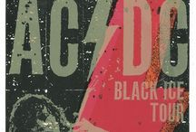 Gig posters / AC/DC, Rolling Stones, Metallica, Bruce Springsteen, Led Zeppelin and much more...