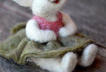 Woolies / Knitting bunnies bunny scarf
