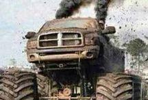 JACKED UP DODGE TRUCKS / Friggin Tanks / by Sarah Claussen