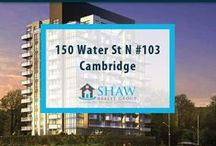 Unit #103 - 150 Water St N Cambridge, N1R0B5 / MLS# 30518924  Breathtaking terrace/river views & a maintenance free lifestyle in your new home. Welcome to the Grand. Cambridge's newest & most exciting developments on the banks of the Grand River. Walk to downtown Galt for shopping, restaurants, Cambridge farmers' market, Dunfield theatre & the Cambridge public library.
