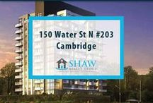 Unit #203 - 150 Water St N Cambridge, N1R0B5 / Extras included are fridge, stove, dishwasher, washer & dryer. Spa like bathrooms, ensuite laundry, covered balcony, controlled entry, fitness room, guest suites & party room, bike storage, 9ft ceilings, and Grand River trails right at your back door.  Book your private showing today! Call us for more information 519-772-4144 | info@ShawRealtyGroup.com or visit http://goo.gl/REsjBe