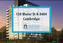 Unit #404 - 150 Water St N Cambridge, N1R0B5 / MLS# 30518933  Welcome to the Grand. Cambridge's newest & most exciting developments on the banks of the Grand River. Walk to downtown Galt for shopping, restaurants, Cambridge farmers' market, Dunfield theatre & the Cambridge public library. Extras included are fridge, stove, dishwasher, washer & dryer.  Book your private showing today! Call us for more information 519-772-4144 | info@ShawRealtyGroup.com or visit http://goo.gl/BTeiCP