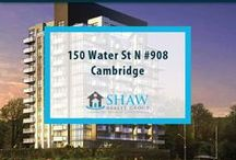 Unit #908 - 150 Water St N Cambridge, N1R0B5 / MLS# 30518940  Breathtaking terrace/river views & a maintenance free lifestyle in your new home. Welcome to the Grand. Cambridge's newest & most exciting developments on the banks of the Grand River. Walk to downtown Galt for shopping, restaurants, Cambridge farmers' market, Dunfield theatre & the Cambridge public library.  Book your private showing today! Call us for more information 519-772-4144 | info@ShawRealtyGroup.com or visit http://goo.gl/VCC2xc