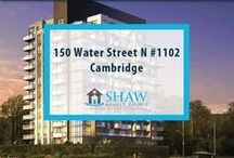 Unit #1102 - 150 Water Street N Cambridge, N1R0B5 / MLS# 30519504  Breathtaking terrace/river views & a maintenance free lifestyle in your new home. Welcome to the Grand. Cambridge's newest & most exciting developments on the banks of the Grand River. Walk to downtown Galt for shopping, restaurants, Cambridge farmers' market, Dunfield theatre & the Cambridge public library.   Book your private showing today! Call us for more information 519-772-4144 | info@ShawRealtyGroup.com or visit http://goo.gl/snouOw