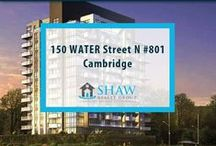 Unit #801 - 150 WATER Street N Cambridge, N1R0B5 / MLS# 30518937  Breathtaking terrace/river views & a maintenance free lifestyle in your new home. Welcome to the Grand. Cambridge's newest & most exciting developments on the banks of the Grand River. Walk to downtown Galt for shopping, restaurants, Cambridge farmers' market, Dunfield theatre & the Cambridge public library. Book your private showing today! Call us for more information 519-772-4144 | info@ShawRealtyGroup.com or visit http://goo.gl/XaLZfX