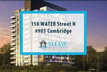 Unit #903 - 150 WATER Street N Cambridge, N1R0B5 / MLS# 30518939  Breathtaking terrace/river views & a maintenance free lifestyle in your new home. Welcome to the Grand. Cambridge's newest & most exciting developments on the banks of the Grand River. Walk to downtown Galt for shopping, restaurants, Cambridge farmers' market, Dunfield theatre & the Cambridge public library. Book your private showing today! Call us for more information 519-772-4144 | info@ShawRealtyGroup.com or visit http://goo.gl/ltSdzC