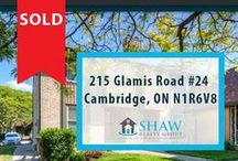 215 Glamis Road #24 Cambridge, ON N1R6V8 / MLS# 30529910  Amazing, 3 bedroom and 2 bathroom Condo in North Galt - Great for Commuters! From your front door you are close to all amenities, schools, quick access to the 401 and a major mall. Book a showing today, time will not last long!!!  Book your private showing today! Call us for more information 519-772-4144 | info@ShawRealtyGroup.com or visit http://goo.gl/GxBldn