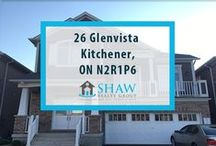 26 Glenvista Kitchener, ON N2R1P6 / MLS# 30530440  The House is fairly well upgraded with featured that include - Quartz counter tops in kitchen and main bath - walk-in pantry - additional cabinets upgrade for the kitchen - large spacious master bedroom.  Book your private showing today! Call us for more information 519-772-4144   info@ShawRealtyGroup.com or visit http://goo.gl/GBAqIe
