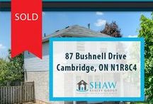 87 Bushnell Drive Cambridge, ON N1R8C4 / MLS# 30530110  Amazing 3 bedroom, 1 bathroom North Galt family home. Property features, newer bathroom, newer plumbing throughout home, newer windows throughout, brand new kitchen appliances, new light fixtures and new carpeting throughout.   Book your private showing today! Call us for more information 519-772-4144   info@ShawRealtyGroup.com or visit http://goo.gl/AKMKzb
