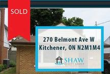 270 Belmont Ave W Kitchener, ON N2M1M4 / MLS# 30528401  Perfect for the first time buyer. This cute 3 bedroom single detached features, hardwood floors in living and dining rooms, newer furnace, main floor 4 piece bath and a large fenced back yard with updated deck with plenty of room for the kids to play.   Book your private showing today! Call us for more information 519-772-4144   info@ShawRealtyGroup.com