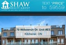 70 Willowrun Drive Unit #E5 Kitchener, ON N2P2K1 / MLS# 30539312  Brand New Open Concept Condo! Move in to a community on the Grand River that is conveniently located close to a 68 acre conservation area.   Book your private showing today! Call us for more information 519-772-4144 | info@ShawRealtyGroup.com For more info, visit https://goo.gl/cikwAF