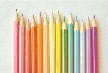 Colour Me Rainbow / RED ORANGE YELLOW GREEN BLUE PURPLE INDIGO / by Megs Firiel Orton