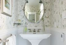 Powder+Bathroom / Inspiration and ideas for powder and bathrooms.