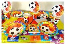 Fiesta de Deportes / Ideas y artículos para fiestas de deportes, fútbol, fútbol americano, basquetbol, béisbol y muchos más.