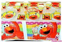 Fiesta de Elmo / Ideas y artículos para una fiesta de cumpleaños de Elmo.