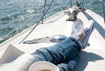 Nobody's perfect except the captain! / Colazione all'alba con caffe' e brioche al baretto del porto, mollare gli ormeggi e uscire in mare...sole, vento, bagni e frutta fresca, rientrare la sera stanchi ma felici, cime a terra e doccia...cena in pozzetto, vino bianco e frescura della sera...chiacchiere e Glenmorangie...