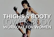 Leg/Booty Workout for Women / The most efficient leg and booty workouts to do at home. For women who want nice looking legs, strong lower body foundation and lose weight simultaneously.