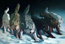 kreslení vlci