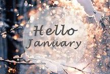 Jolly January / Parties, fresh starts, resolutions and winter walks