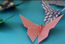 Papillons / J'aime plus que tout les papillons du fait de leur côté éphémère. Leurs couleurs me fascinent. Moi qui déteste pourtant toute sorte de petite bête. Alors bien sûr, ils inspirent mes créations.