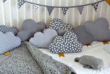 Nuages en tout genre / Dans la chambre des enfants, dans ma cuisine, sur mes murs, dans ma tête, j'adore les nuages ! C'est ma première inspiration !