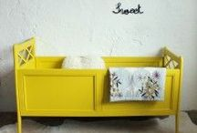 Chambre de bébé en jaune