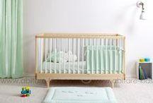 Chambre de bébé en vert