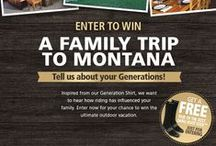 Riding Through The Generations / Enter to WIN the ultimate outdoor family vacation to the Noble Outfitters™ lodge in Montana! http://bit.ly/noblegenerations