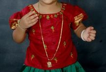 Pavadas - Traditional / Traditional Pavadas (South Indian Ethnic Wear) from Kancheepuram for all ages and occasions