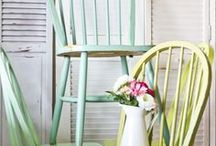 Upcycled Chairs #finditpaintitloveit / #finditpaintitloveit by Farrow and Ball has inspired us to look for inspiration to give some of our furniture a new lease of life. A great way of adding splashes of colour in your home without breaking the bank - and the feel good factor of DIY too!