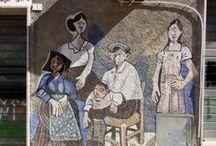Orgosolo, Sardinië / Orgosolo is beroemd om zijn muurschilderingen.