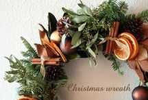 A Natural Christmas / Using nature's bounty to create a cozy, scented Festive decor scheme: pine cones, dried oranges, lemons, limes & apples, walnuts & cinnamon sticks, chilli peppers & berries