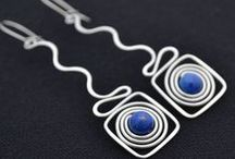 Earrings - Wire & Stone