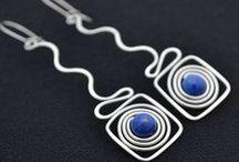 Earrings - Wire & Stone