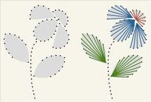 Fonalgafikás képek, minták / fonalgrafika