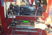 me  and my  studio  stuff / My studio. And my. Music and music info