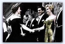 Marilyn Monroe with Queen Elizabeth II in London 1956